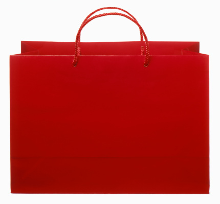 Retail「red shopping bag cut out on white」:スマホ壁紙(17)
