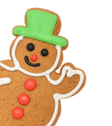 Waving - Gesture「Cheerful Gingerbread Snowman」:スマホ壁紙(17)