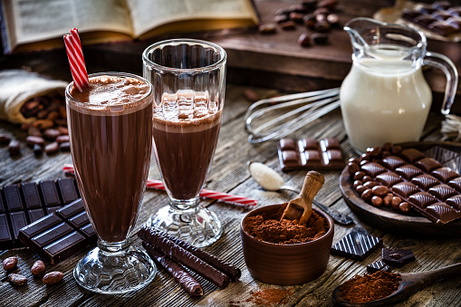 Recipe「Preparing homemade chocolate milkshake」:スマホ壁紙(7)