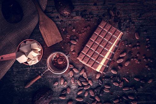 植物「自家製の良い品質チョコレート バーを準備します。」:スマホ壁紙(8)
