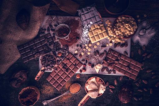 植物「自家製の良い品質チョコレート バーを準備します。」:スマホ壁紙(6)