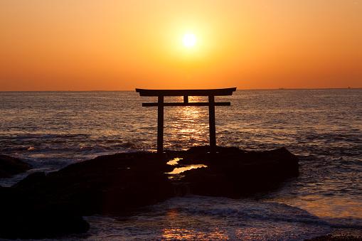 Ibaraki Prefecture「Sunrise over Oarai seashore」:スマホ壁紙(12)