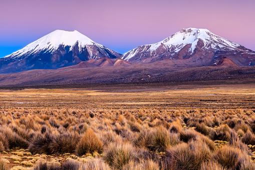 Bolivian Andes「Sunrise over Parinacota Volcano in Sajama National Park, Bolivia」:スマホ壁紙(2)