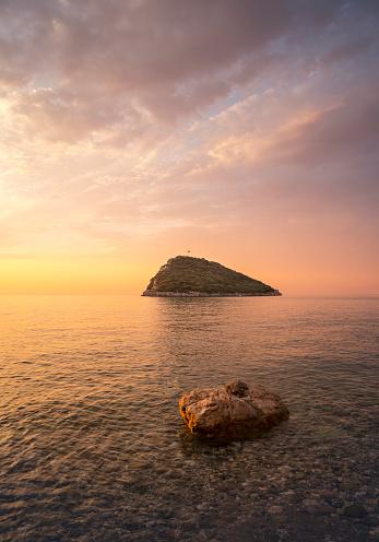 透明「Sunrise Over Mediterranean Sea, Antalya」:スマホ壁紙(19)