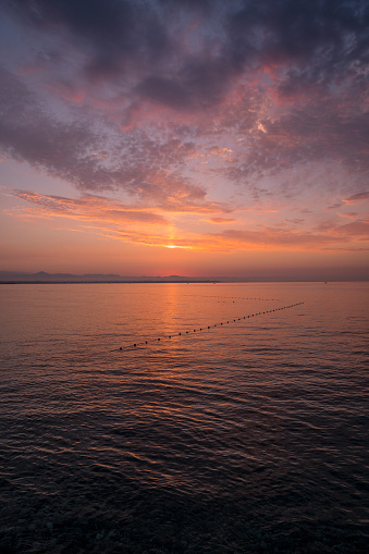 ピンク色「Sunrise Over Mediterranean Sea, Antalya」:スマホ壁紙(7)