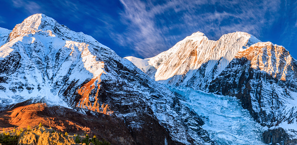 Annapurna Conservation Area「Sunrise over Annapurna Range, Nepal」:スマホ壁紙(12)