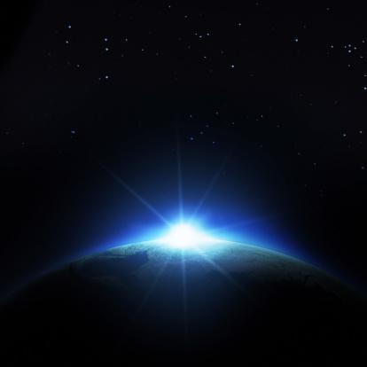 星空「日の出アース」:スマホ壁紙(18)