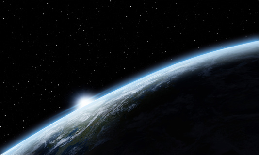 Big Tech「Sunrise over Earth」:スマホ壁紙(18)