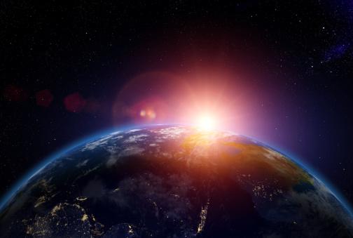Digital Composite「Sunrise over Australia from space」:スマホ壁紙(11)