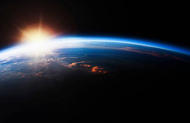 Sunrise over Planet Earth:スマホ壁紙(壁紙.com)