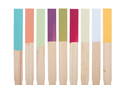 Color Swatch「Paint Stir Sticks Color Swatches with Clipping Path」:スマホ壁紙(9)