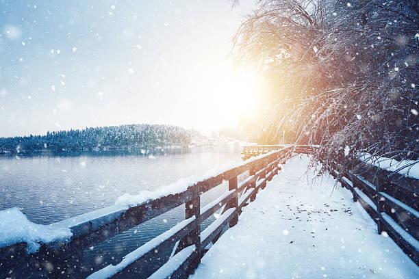 Idyllic Frozen Footpath:スマホ壁紙(壁紙.com)