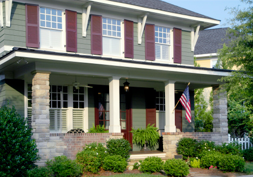 Fourth of July「An arts and crafts home exterior with a large patio.」:スマホ壁紙(1)