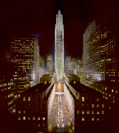 1980-1989「Rockefeller Center, Manhatten, at chritsmas」:スマホ壁紙(0)