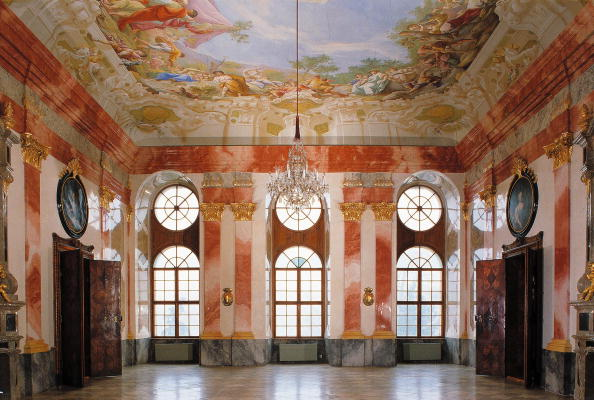 Ceiling「The festival room with ceiling fresco by Paul Troger in the new building of the Geras Monastery in the Austrian Waldviertel, Photograph, Around 2004」:写真・画像(10)[壁紙.com]