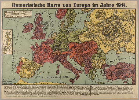 Chromolithograph「Humorous Europe Map In 1914」:写真・画像(8)[壁紙.com]