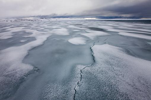Pack Ice「Sea Ice and Snow Storm on Nordaustlandet in Svalbard」:スマホ壁紙(5)