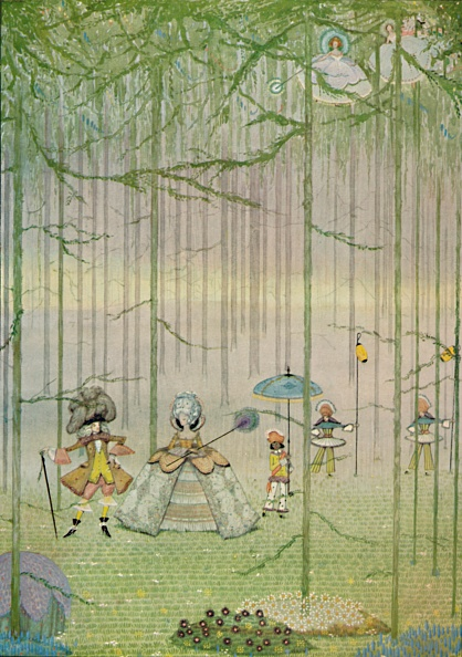 Fairy Tale「Riquet With The Tuft From Charles Perraults Fairy Tales Water-Colour Drawing 1923」:写真・画像(11)[壁紙.com]