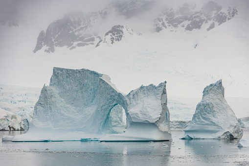 Pack Ice「Antarctica Iceberg Natural Arch Neumeyer Channel」:スマホ壁紙(14)