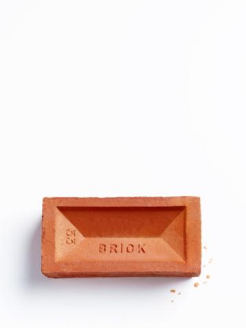 Support「Brick on white background.」:スマホ壁紙(1)