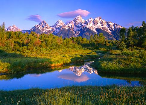 Grand Teton「Dawn At Grand Teton National Park」:スマホ壁紙(4)