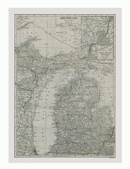 Great Lakes「Map Of Michigan」:写真・画像(17)[壁紙.com]