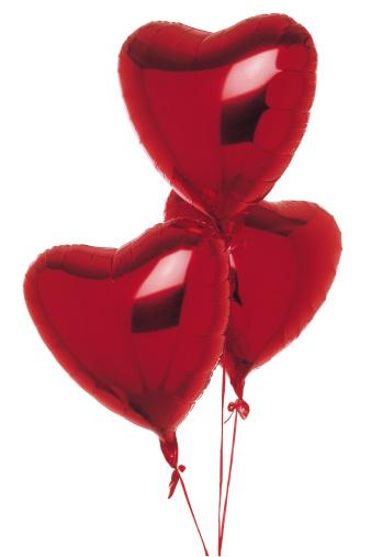 バレンタイン「Heart-shaped balloons」:スマホ壁紙(16)