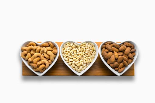 Pine Nut「Heart-shaped bowls of heart-healthy nuts」:スマホ壁紙(18)