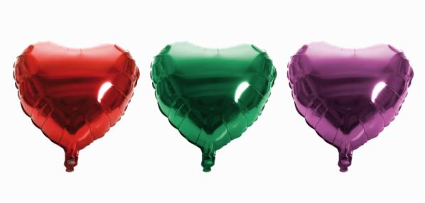 ハート「Heart-shaped balloons, close-up」:スマホ壁紙(8)