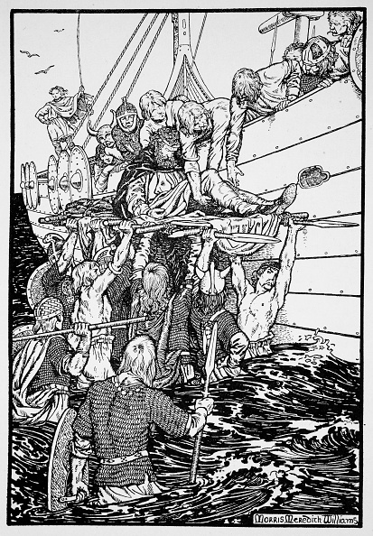 Northern European Descent「The Dying King Haakon Carried To His Ship 961 (1913)」:写真・画像(9)[壁紙.com]