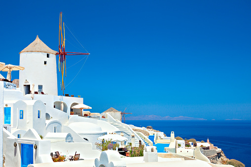 Santorini「Classical view of Oia, Santorini island, Greece.」:スマホ壁紙(12)