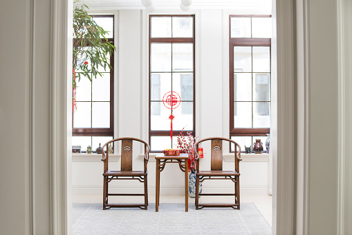 Lunar New Year;「Classical villa with Chinese new year decoration」:スマホ壁紙(13)