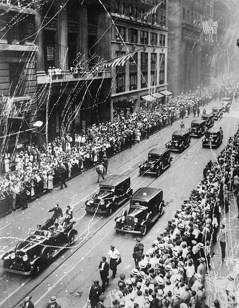 The Two Ocean Aviators Amy And Jim Mollison Be Celebrated On Broadway. 9Th August  1933. Photograph.:ニュース(壁紙.com)
