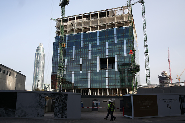 New「Work Progresses At The New US Embassy Building In Nine Elms」:写真・画像(4)[壁紙.com]