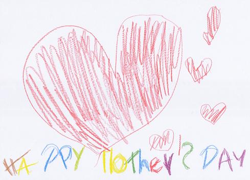母の日「子供の絵の母の日」:スマホ壁紙(5)