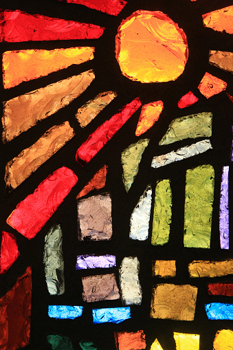 Cathedral「Sun. Stained glass window. Basilica of the Annunciation.」:スマホ壁紙(9)