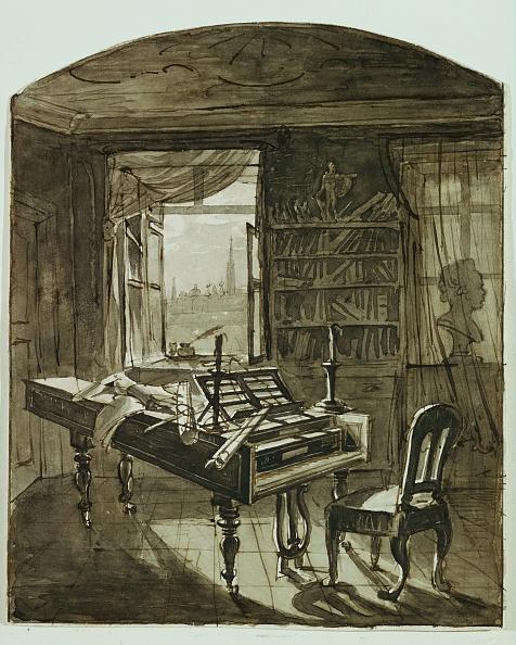 Piano「Beethoven's study in the Schwarzspanierhaus」:写真・画像(10)[壁紙.com]