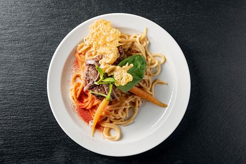 カリグラフィー フローリッシュ「スパゲッティとパルメザンチーズのステーキ」:スマホ壁紙(9)