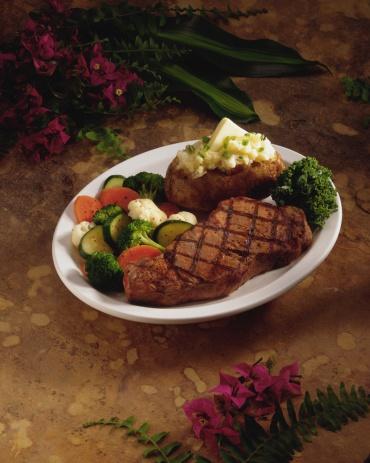 Baked Potato「Steak with baked potato and vegetables」:スマホ壁紙(15)