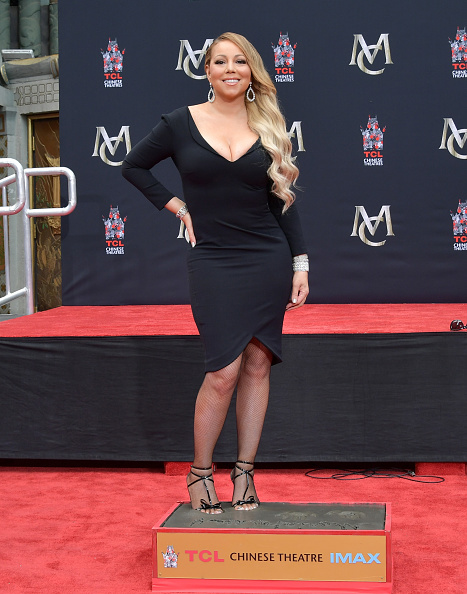 Fishnet Stockings「Mariah Carey Hand And Footprint Ceremony」:写真・画像(9)[壁紙.com]