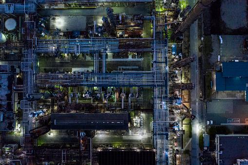 Effort「Nighttime factory scenery」:スマホ壁紙(19)