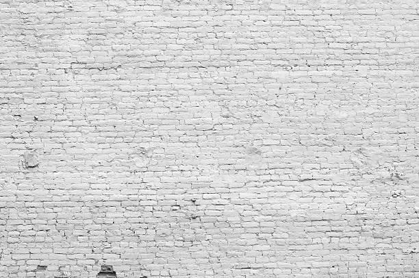 Old distressed white brick wall:スマホ壁紙(壁紙.com)