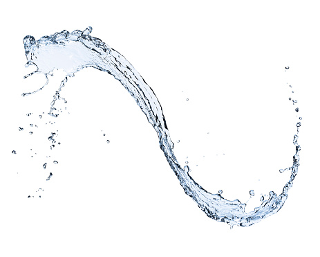 物の形「Water splashing on white background」:スマホ壁紙(14)
