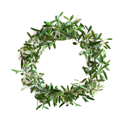 Twig「Olive tree branch wreath」:スマホ壁紙(2)