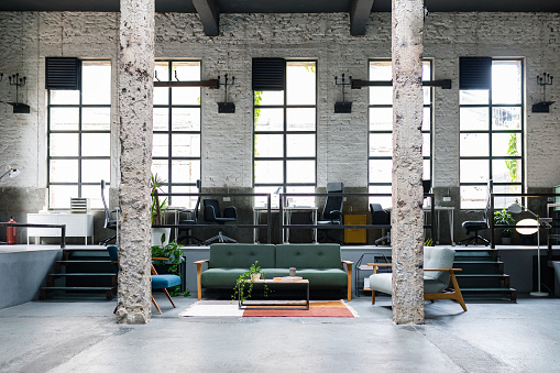 City Life「Modern Coworking Office Space, No People」:スマホ壁紙(8)