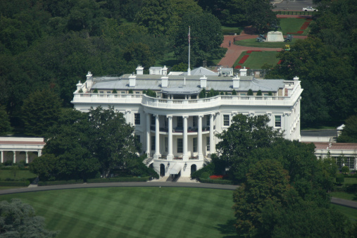Government Building「The White House in Washington D.C. aerial view」:スマホ壁紙(2)