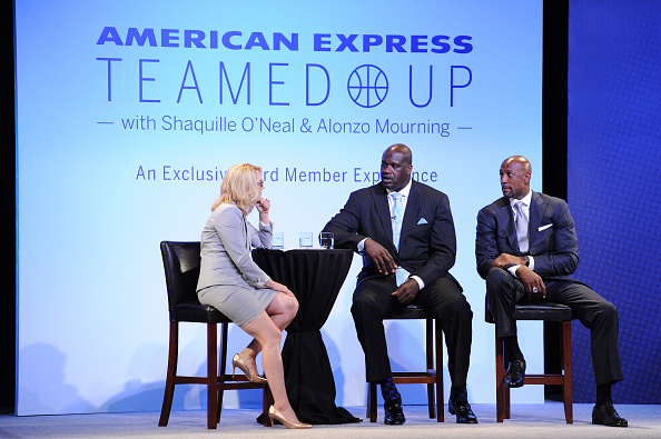 アロンゾ モーニング「American Express Teamed Up With Shaquille O'Neal And Alonzo Mourning」:写真・画像(14)[壁紙.com]