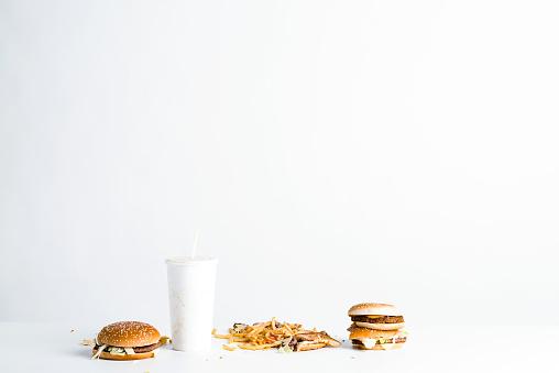 Leftovers「Fast food leftovers on table」:スマホ壁紙(9)