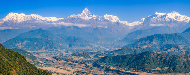Mountain View - Arkansas「Annapurna Range and Machapuchare from Pokhara, Nepal」:スマホ壁紙(10)