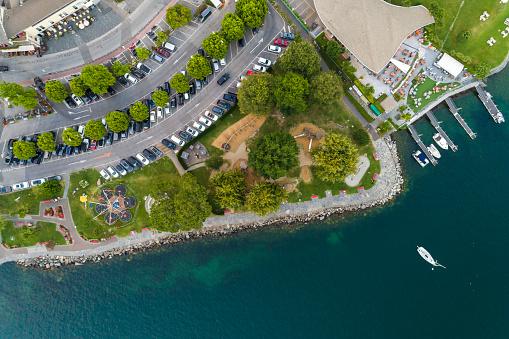 Passenger「Ascona promenade on Lake Maggiore seen from above, Locarno, Canton Ticino, Switzerland」:スマホ壁紙(5)